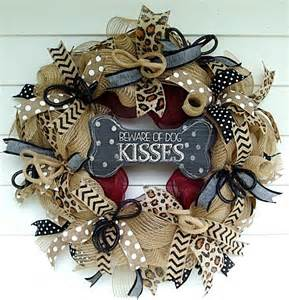 how to make a wreath how to make a burlap deco mesh wreath for pet lovers