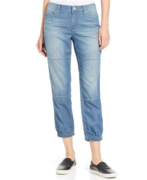 dkny soft denim jogger in blue lyst