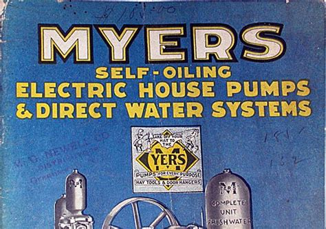 Plumbing Supply Middletown Ny by Plumbing Supply Co Vintage Myers Self Oiling Water