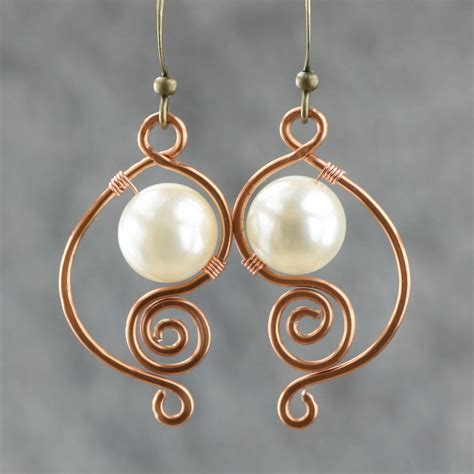 Handmade Pearl Earrings - white pearl earrings brass handmade earring fashion