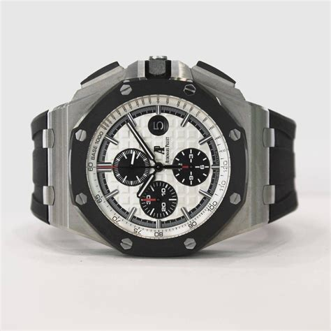 Ap Chrono Stainless audemars piguet stainless steel royal oak offshore chronograph wristwatch at 1stdibs