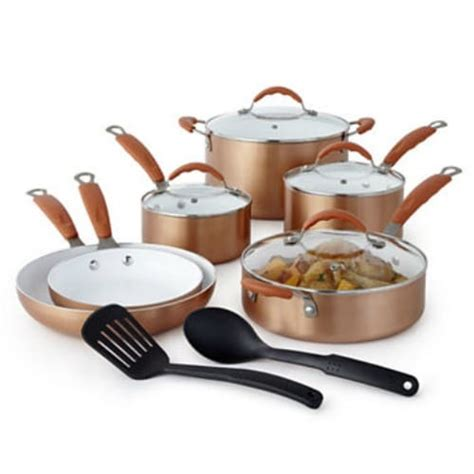 jcpenney copper  pc ceramic cookware set  reg  fabulessly frugal