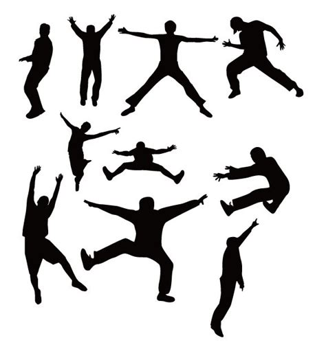 free dancing people silhouettes vector titanui