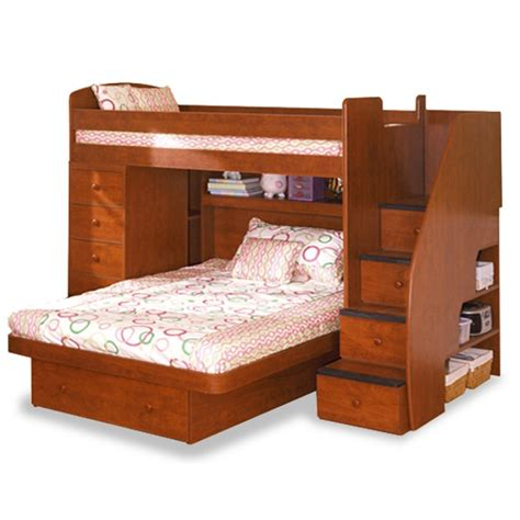 friends bunk bed with slide full