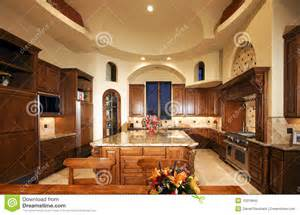 Tuscan Kitchens Designs huge new mansion home kitchen stock photo image 10015840