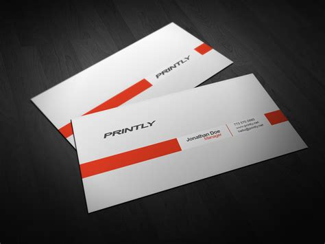 Business Visiting Card Templates by Free Printly Psd Business Card Template Printly