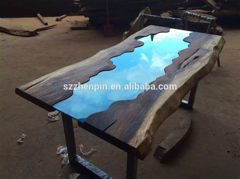 Unfinished Dining Room Furniture by Live Edge Glass Inlay Solid Wood Slab Dining Table Glass