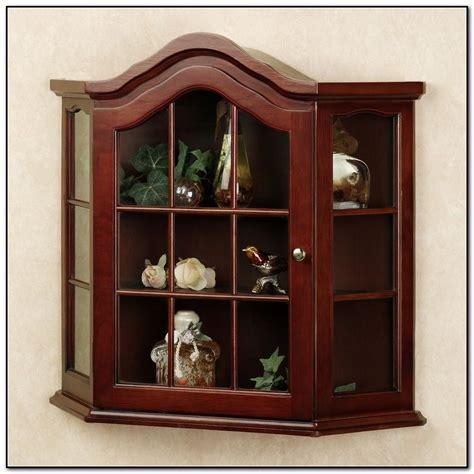 Small Wall Curio Cabinet With Glass Doors Cabinet Home Wall Display Cabinets With Glass Doors