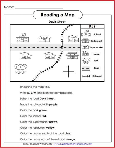 map activity teach basic map skills with this printable map activity