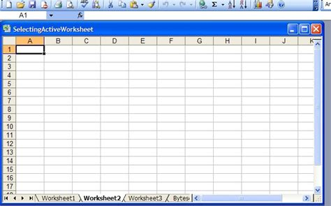 Spreadsheet Document set active worksheet selected by default in generated