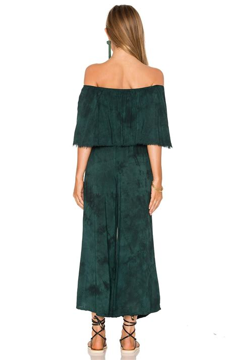 Pandora Jumpsuit In lyst blue pandora ruffle jumpsuit in green