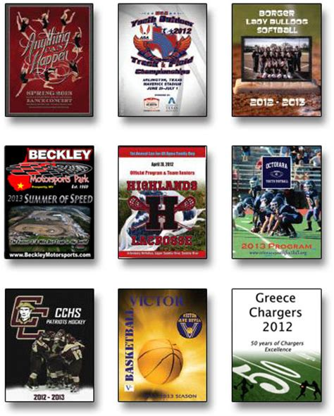Sports Program Book Price Quote Form Sports Program Printing Sports Program Template