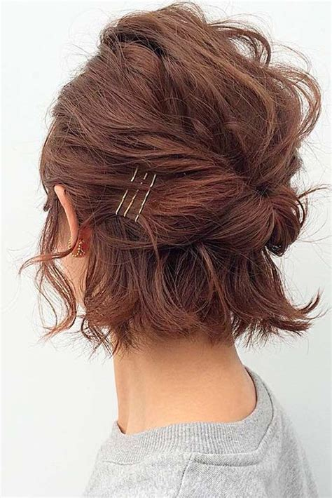 how to updo layered hair medium to short hairstyles for thick wavy hair
