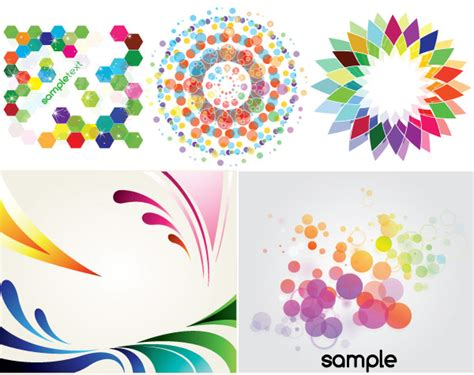 Colorful Card Background Design Elements Free Vector In | colorful backgrounds decorative elements vector art