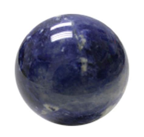 blue sodalite stone sphere for use as a crystal ball