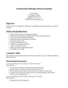 Resume Sles Excel Skills Exle Management Resume 59 Images Resume Canada Sales Lewesmr Facility Manager Resume