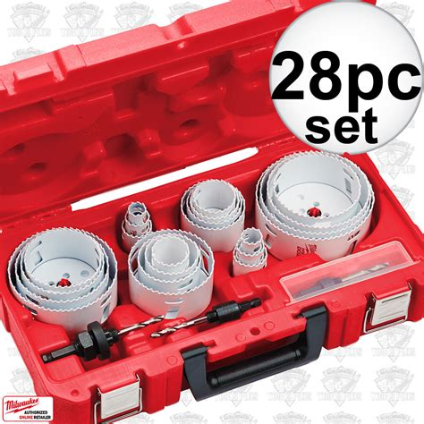 Promo Holesaw Kit Saw Kit Set 13 Pcs Mata Bor Pelubang Kayu Pipa milwaukee saw kit for sale tools plus