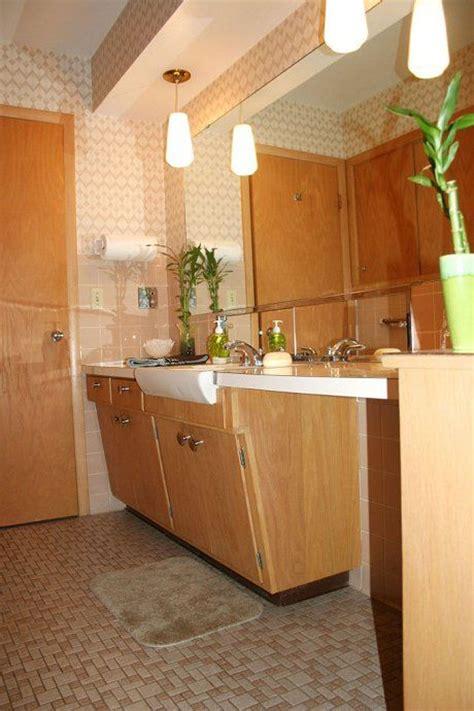 mid century modern bathroom vanity the vanity in this mid century modern bathroom