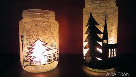 decorazioni natalizie con candele decorazioni di natale con vasi di vetro e candele