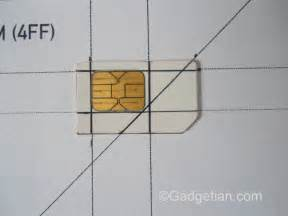 how to easily convert or cut sim card to nano sim for