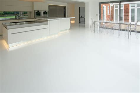 domestic resin flooring family room and kitchen diner