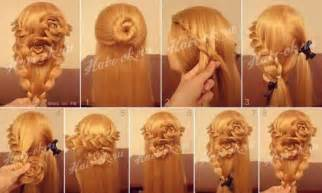 how to braid hair step by step how to do pretty flower braid hairstyles step by step diy