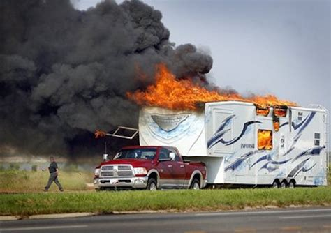 Fleetwood Mallard Travel Trailer Floor Plans by Fifth Wheel Toy Hauler Model Called The Inferno Catches Fire