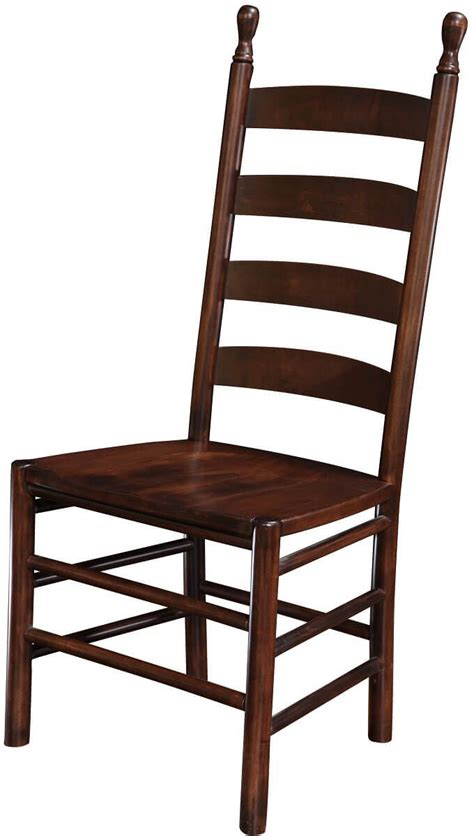 colonist ladder back dining chair countryside amish - Ladder Back Seat Chairs