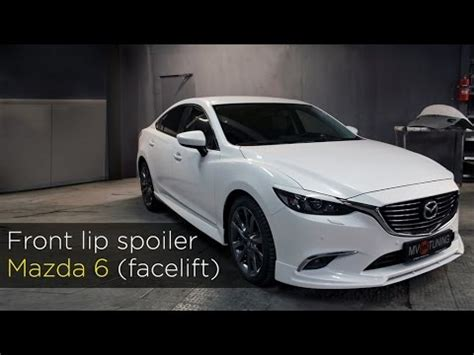 front lip spoiler by mv tuning for mazda 6 facelift