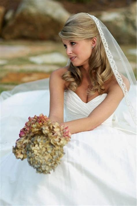 Bridal Hairstyles For Length Hair With Veil by Gorgeous Hairstyles Of Brides With Veil Weddings