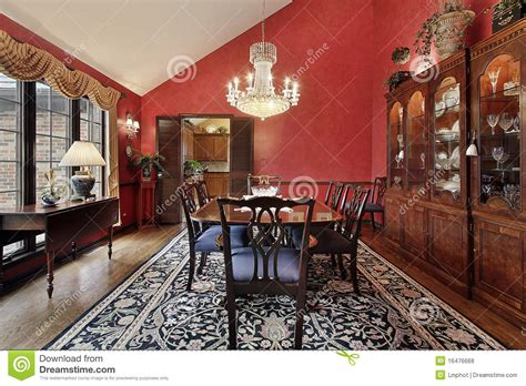 red dining room walls dining room with red walls royalty free stock photos