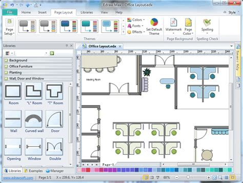 free floor plan layout software office layout software create office layout easily from templates and exles