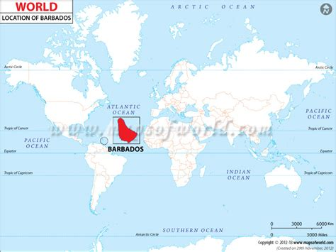 where is barbados on world map where is barbados location of barbados