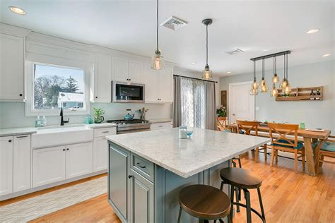design line kitchens cottage white and blue kitchen point pleasant new jersey
