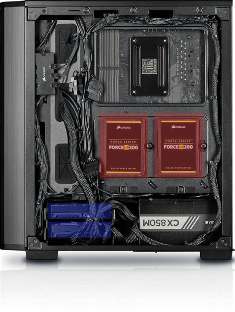 carbide series  rgb tempered glass mid tower atx