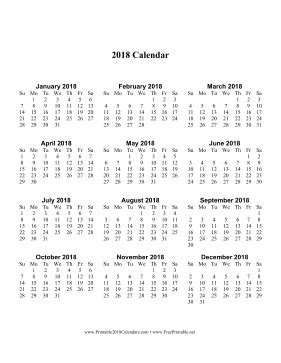 printable calendar vertical 2018 printable 2018 calendar one page with large print vertical