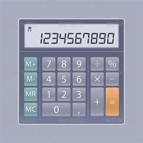 calculator ui calculator for ui web elements vectors