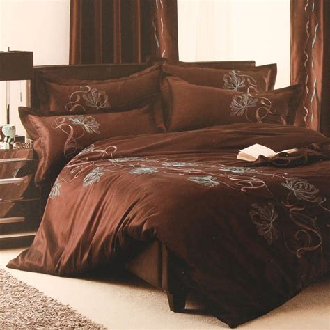 chocolate bed linen chocolate lorna embroidered duvet cover free uk delivery