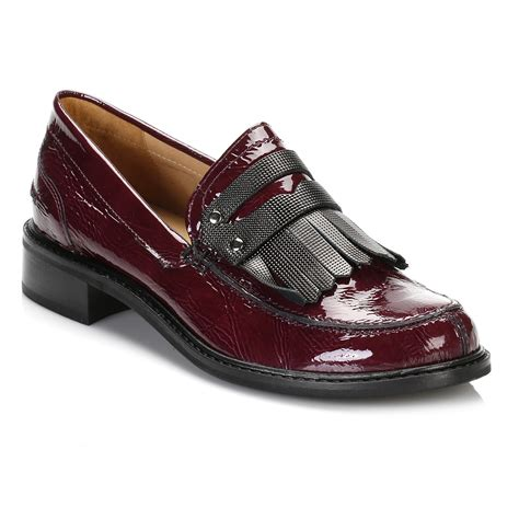patent womens loafers tower womens burgandy patent leather loafers low