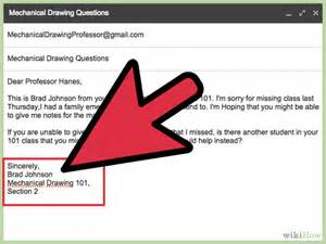 how to email a professor with sle emails wikihow