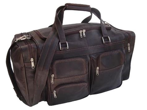 Amour My Large Pockets Bag by Piel Leather 7720 20 Inch Duffel Bag With Pockets