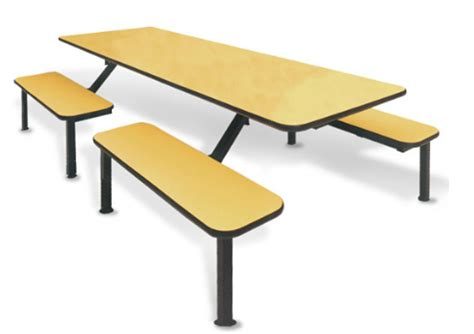 breakroom tables with attached chairs industrial cafeteria tables and chairs ofm cafeteria