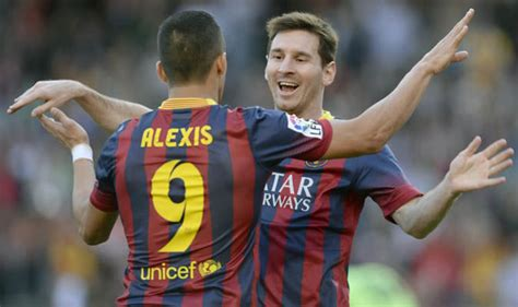 alexis sanchez barca stats barcelona news lionel messi has told arsenal star alexis
