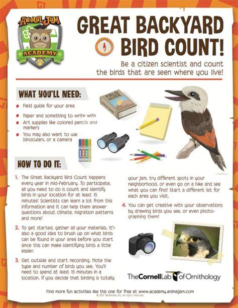 great backyard birdcount 88 best images about animal jam academy on pinterest