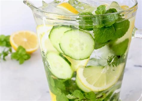 Detox Water Lemon Cucumber Mint Side Effects by Ciaoflorentina