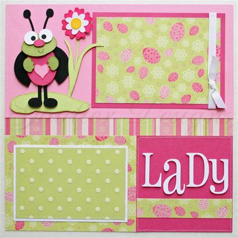 ladybug scrapbook layout 12x12 premade scrapbook pages lady bug pictures of