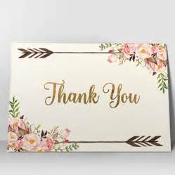 Bohemian Bathroom Accessories Floral Thank You Card Printable Thank You From