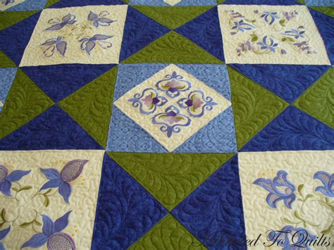 And Blue Quilt by Addicted To Quilts Blue And Green Quilt