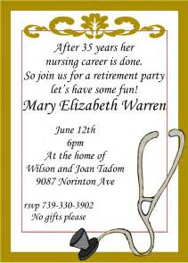 nursing retirement invitations custom made retirement invitations