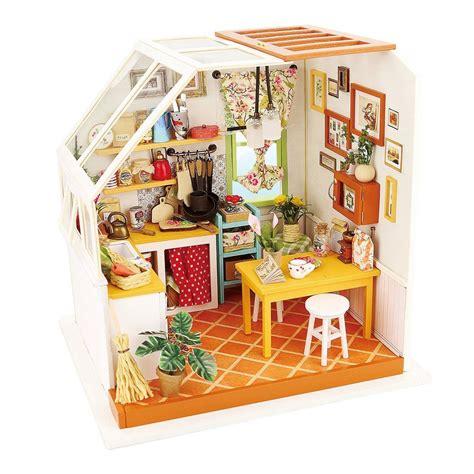 mobili in miniatura fai da te robotime casa di cucina fai da te con accessori e mobili